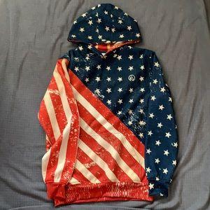 XS original run patriotic hoodie
